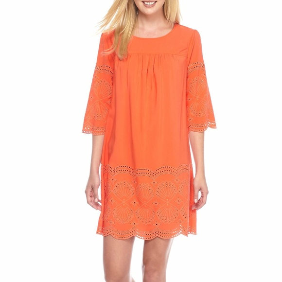 936273cd162 crown & ivy Dresses | Crown Ivy Cotton Eyelet Dress Size 10 | Poshmark